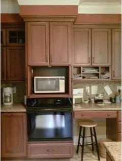 built in microwave oven stacked on