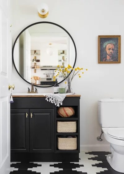 Eclectic Powder Room by Shannon Tate Interiors