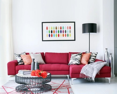 Red Living Room Couches Houzz