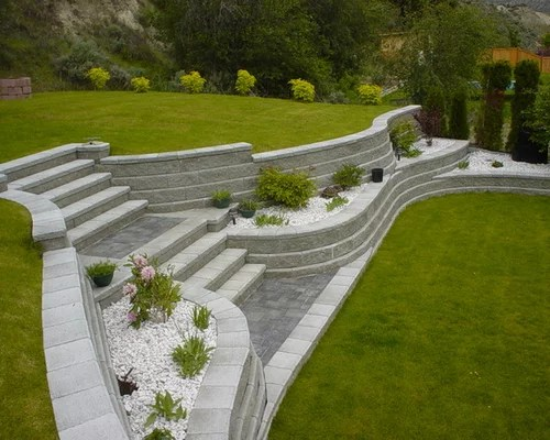 sloped driveway ideas