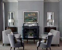 Blue Gray Living Room | Houzz