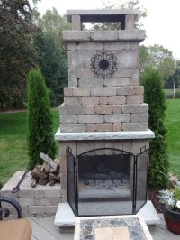 Diy Outdoor Fireplace Home Design Ideas, Pictures, Remodel ...