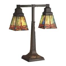 Meyda Tiffany MD-48203 Prairie Dragonfly Transitional Desk Lamp