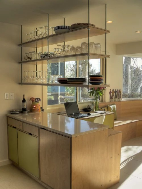 Ceiling Mounted Hanging Shelves  Houzz
