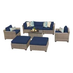Lexmod Monterey Outdoor Wicker Rattan Sectional Sofa Set Sofas That Can Be Assembled 50 Most Popular 8 Piece Lounge Sets For 2019 Houzz Tkclassics Hampton Patio Navy