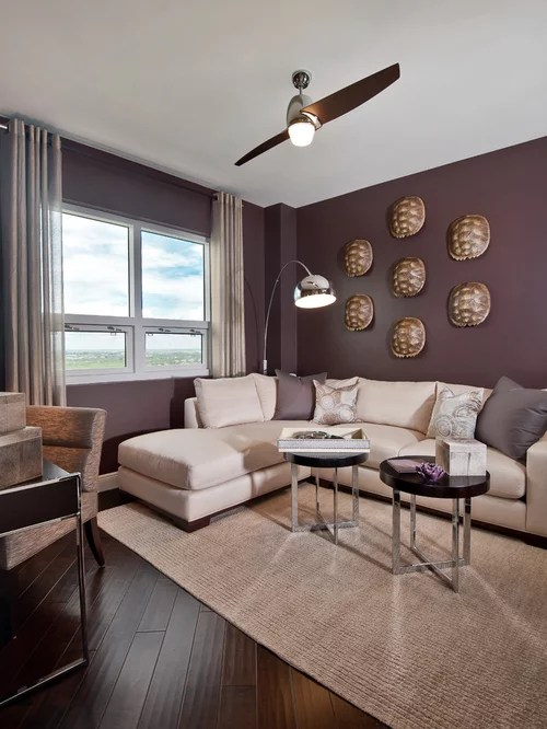 living room paint colors with dark hardwood floors swivel club chairs purple ideas, pictures, remodel and decor