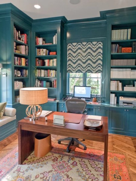 painted home office built ins Painted Built Ins | Houzz