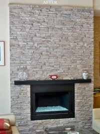 Faux Stone Fireplace Home Design Ideas, Pictures, Remodel ...