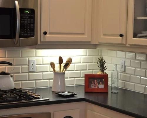 glass subway tile kitchen backsplash hutches beveled ideas, pictures, remodel ...