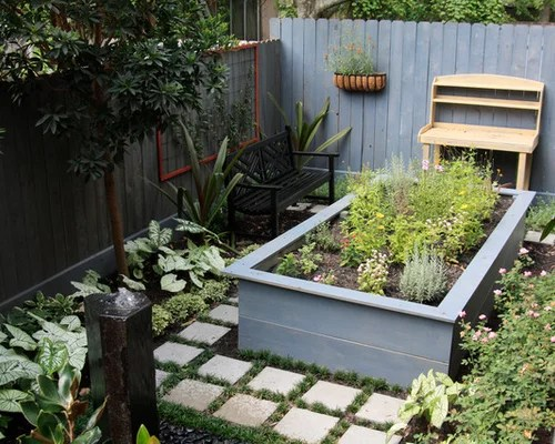 Raised Bed Herb Garden Houzz