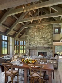 Tall Stone Fireplace Home Design Ideas, Pictures, Remodel ...