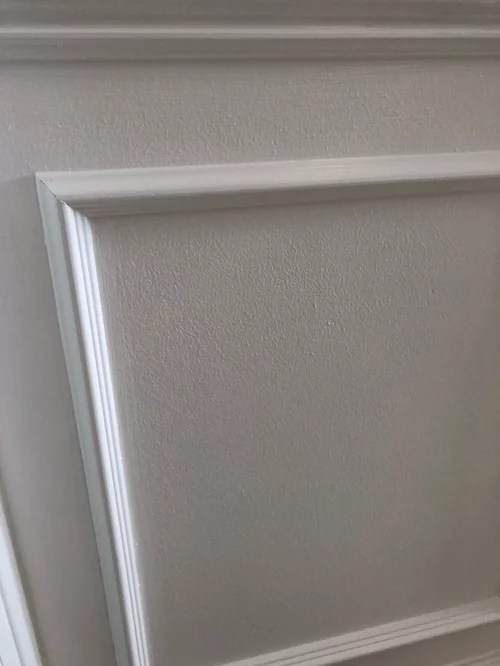 picture frame moulding below chair rail cotton lounge covers molding with textured walls