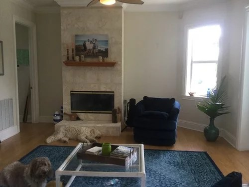 living room fireplace off centered design ideas long narrow dilemma center we want to get a tv up ideally but are ok if it has go right for anything and looking forward your thank you