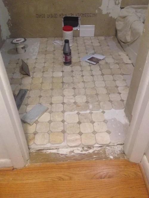 bathroom and hardwood floor