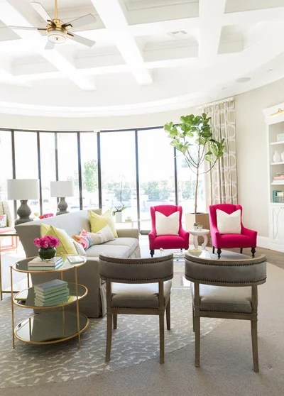 Transitional Living Room by E & A Custom Homes