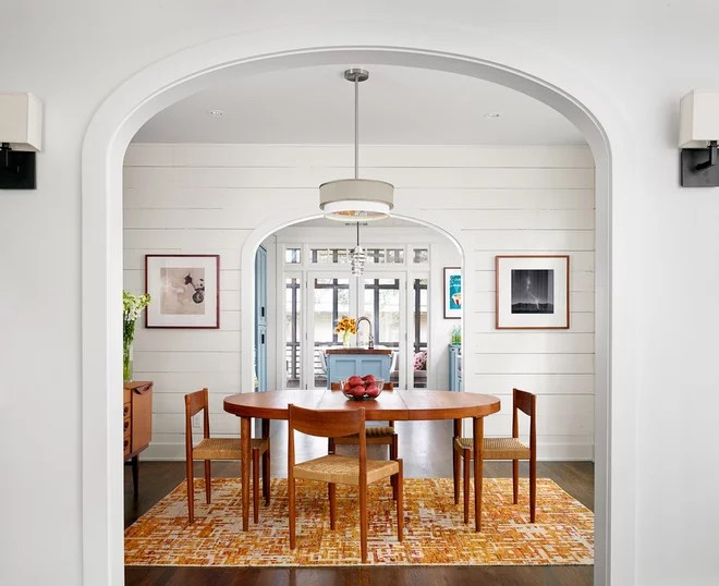 Farmhouse Dining Room by Clayton&Little Architects