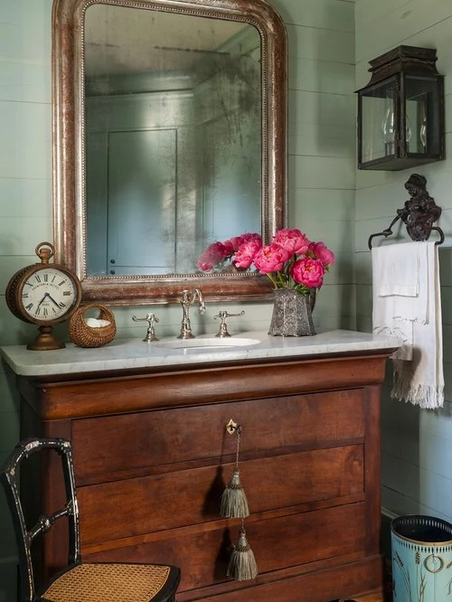 Chest Converted To Sink Vanity  Houzz