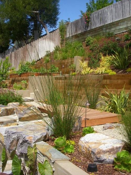wood retaining wall home design