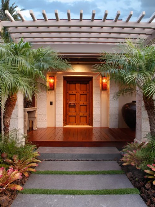 tropical entrance