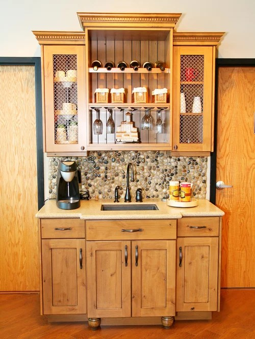 Rustic Wet Bars Home Design Ideas Pictures Remodel and Decor