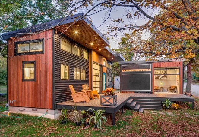 """Rustic Exterior """"Amplified"""" Tiny House"""