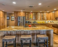 Large Rustic Open Plan Kitchen Design Ideas, Renovations