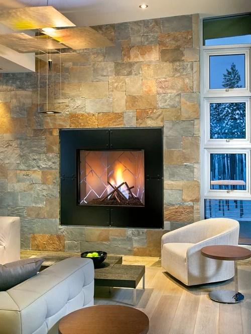 Slate Fireplace  Houzz