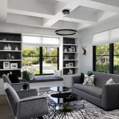 Contemporary Living Room Furniture Ideas Oversized Chairs 75 Most Popular Design For 2019 Inspiration A Mid Sized Formal And Enclosed Dark Wood Floor Gray