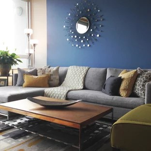 blue modern living room black and white small design 75 most popular ideas for 2019 stylish open concept medium tone wood floor gray