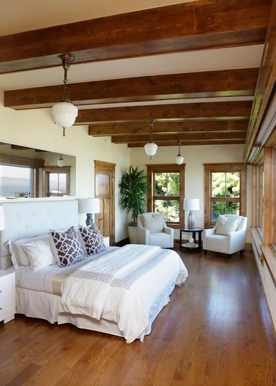 Tropical Bedroom by Tulip Hardwood Floors