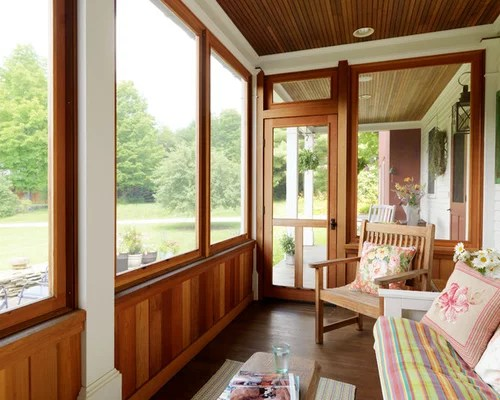Screened Porch Half Wall  Houzz