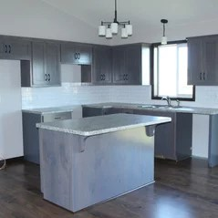 Grey Stained Kitchen