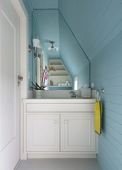 Traditional Powder Room by Thomas Rex Hardy, AIA