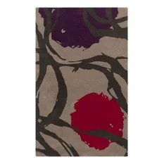 Surya Harlequin Dark Plum-Red 5'x8' Area Rug