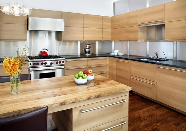 modern kitchen cabinet hardware large trash can top 9 styles for flat panel cabinets contemporary by lda architecture interiors