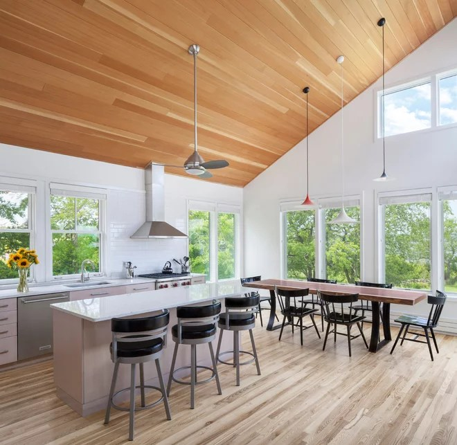 Contemporary Kitchen by Acorn Deck House Company