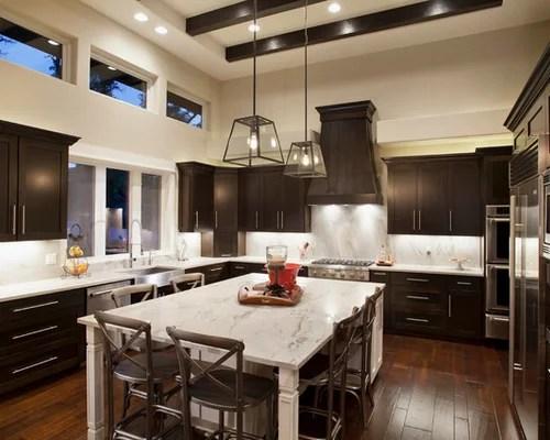 Best Dark Cabinets Light Island Design Ideas  Remodel