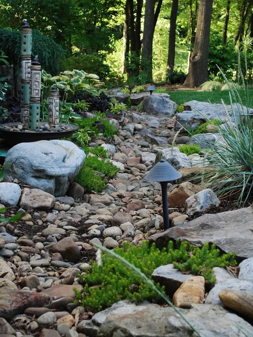 dry creek bed french drain