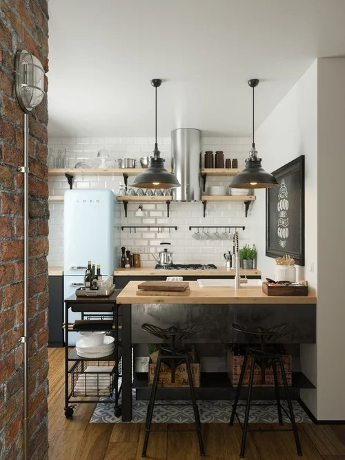 Our 50 Best Industrial Kitchen Ideas  Remodeling Photos