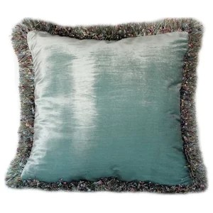 silk velvet decorative throw pillow