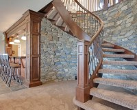 Rustic Calgary Staircase Design Ideas, Remodels & Photos