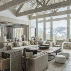 Rustic Living Rooms Room Tropical Design 75 Most Popular With White Walls Ideas For Mountain Style Formal And Open Concept Light Wood Floor Gray Photo In