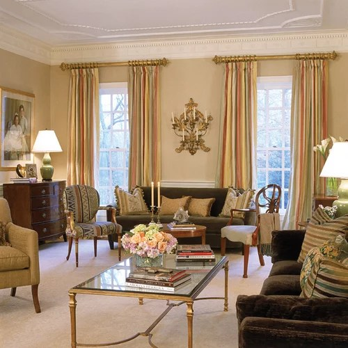 formal living room with brick fireplace wall mounted furniture english manor house home design ideas, pictures, remodel ...