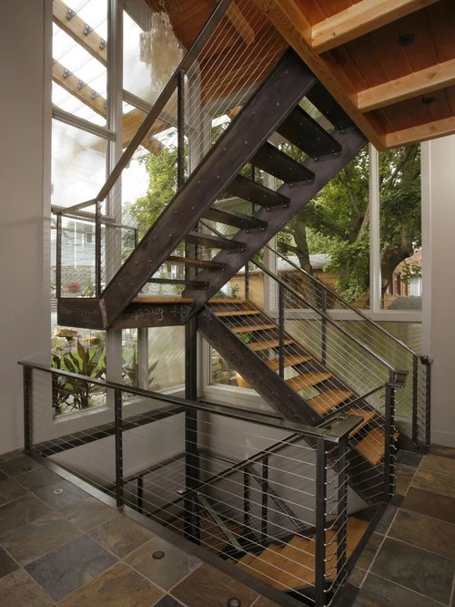 Industrial Staircase Home Design Ideas Pictures Remodel and Decor