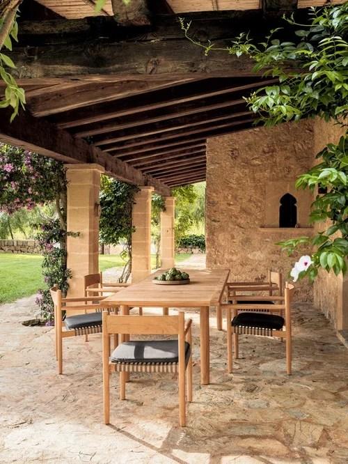 25 Best berdachte Mediterrane OutdoorGestaltung Ideen Design  Bilder  Houzz Ideas
