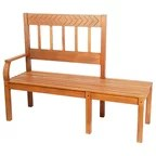 Bowman Picnic Table Set - Rustic - Outdoor Benches - by ...