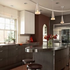 Single Handle Kitchen Faucet Molding On Top Of Cabinets Best Oval Islands Design Ideas & Remodel Pictures ...