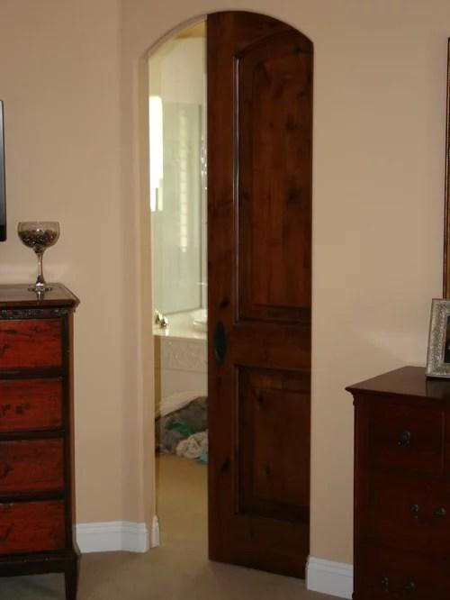Arched Pocket Door  Houzz