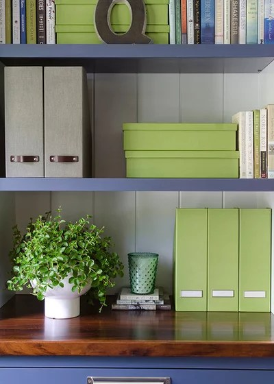 Contemporary Home Office by Kristina Crestin Design