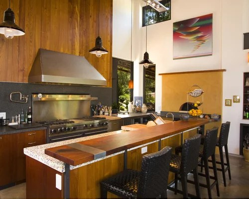 craftsman style kitchen cabinets lighting for island raised breakfast bar home design ideas, pictures, remodel ...